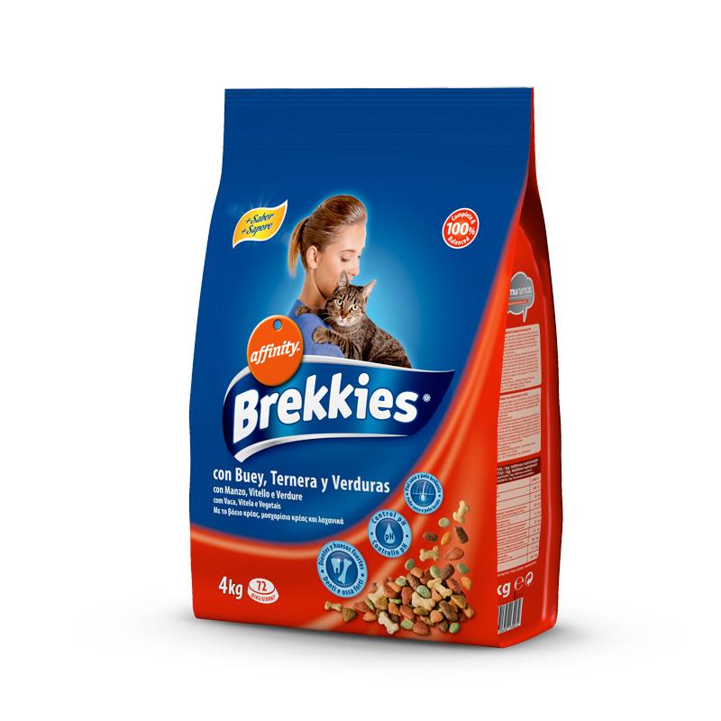 Brekkies gats 4kg bou-verdures